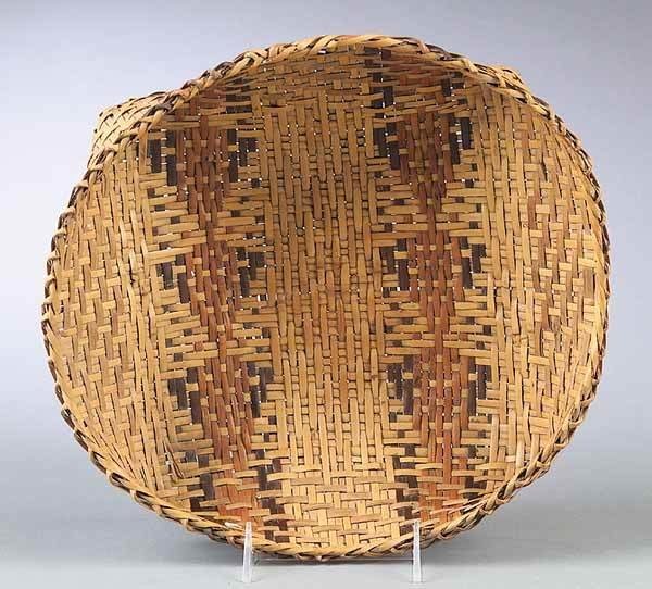 0937: Large Antique Choctaw Split Cane Utility Basket