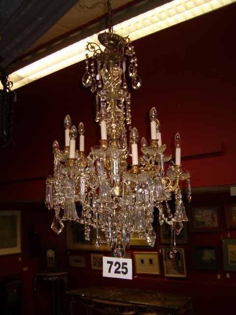 0725: LouisXVI-Style Twelve-Light Chandelier