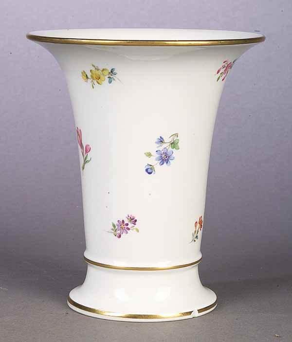 0687: Meissen Porcelain Trumpet Vase