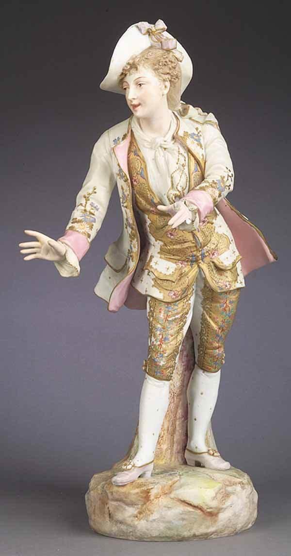 0686: German Polychromed Porcelain Figure of Cavalier