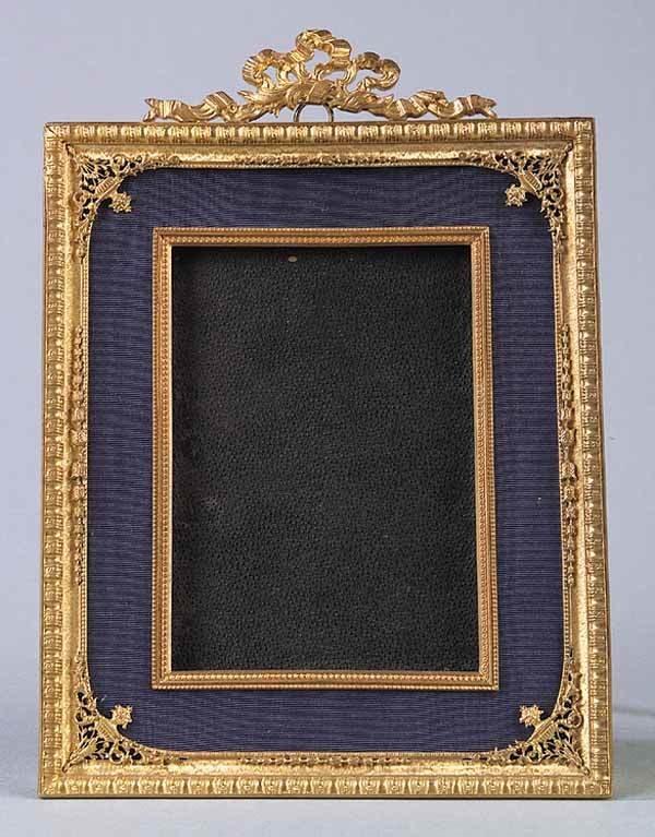 0683: French Gilt-Metal Photo Frame, c. 1900
