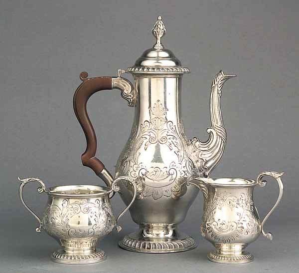0668: George III-Style Silverplate Coffee Service
