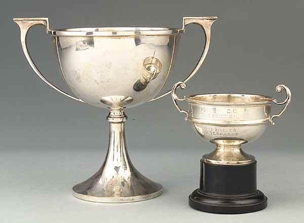 0666: Two English Sterling Silver Trophy Cups