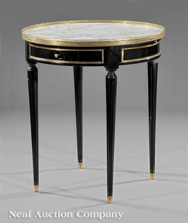 0004: Ebonized, Brass-Mounted Bouillote Table, Jansen