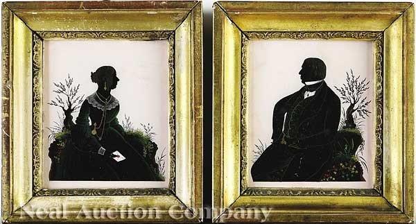 0005: Three English Eglomise Silhouettes