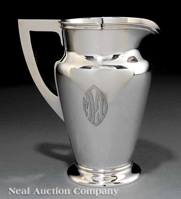 0020: Schofield Art Deco Sterling Silver Pitcher