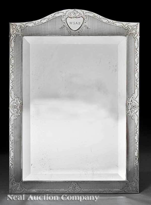 0021: Edwardian Sterling Silver Dressing Mirror