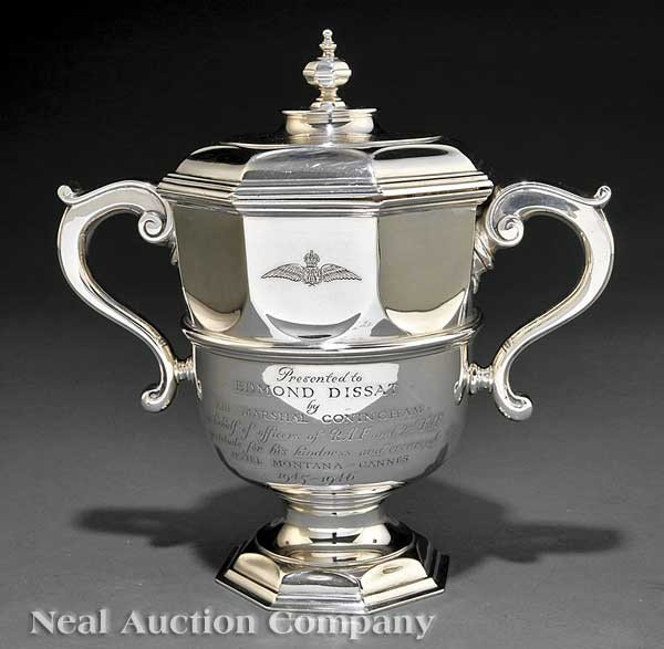 0022: Mappin & Webb Sterling Silver Cup and Cover