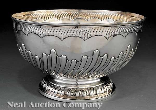 0023: Gibson & Langman Sterling Silver Punch Bowl