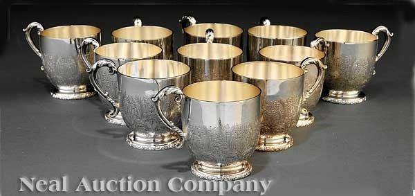 0023A: Ellis Barker Silverplate Punch Cups