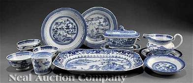 0209: Chinese Export Blue and White Porcelain Bowls