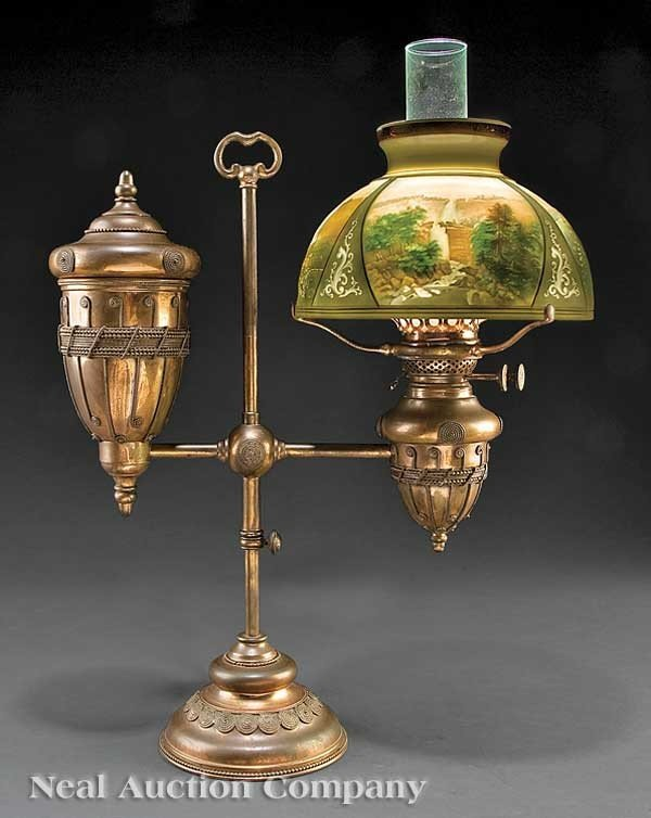 0671: Tiffany Copper-Plated Brass Student's Lamp