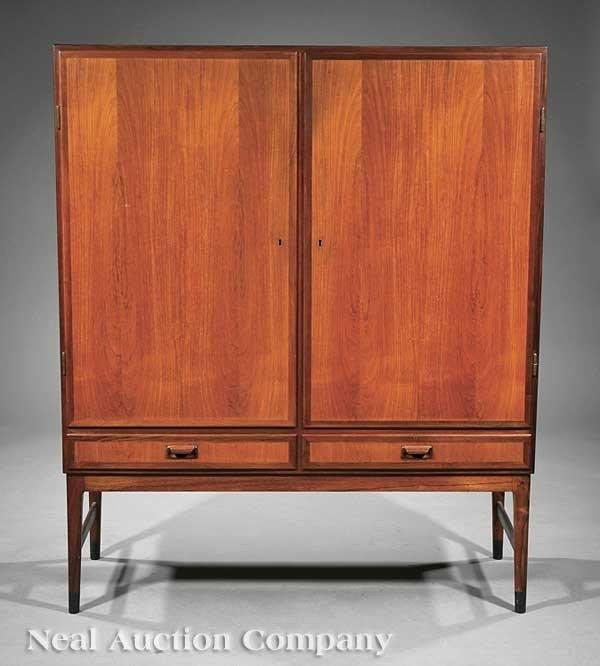 0680: Danish Modern Teakwood Cabinet-on-Stand, Wanscher