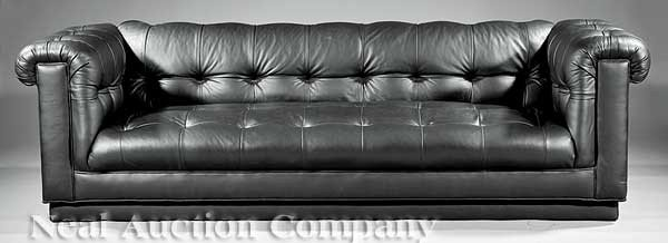 0682: Leather Chesterfield Sofa
