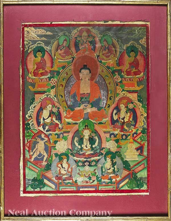 0693: Tibetan Thankga of Amitabha