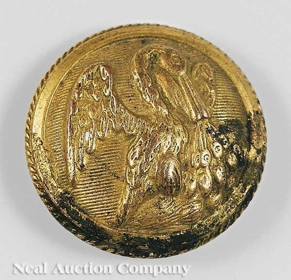 0942: Louisiana State Militia Button, ret. Horstmann