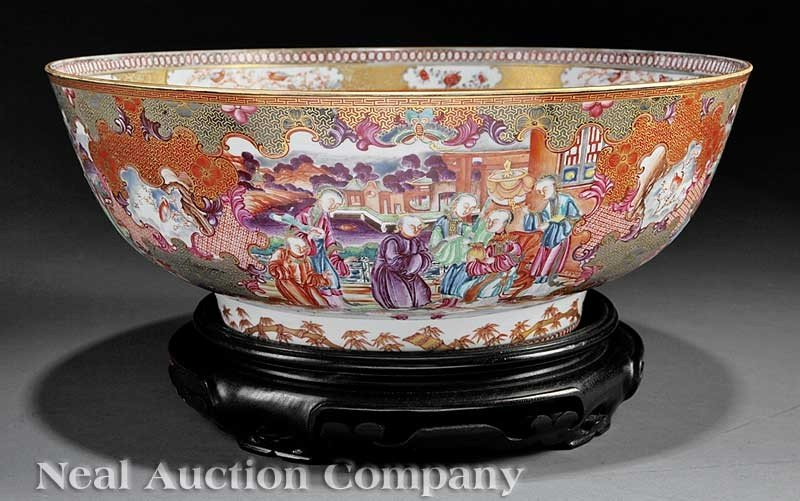 0001: A Chinese Export Mandarin Palette Porcelain Punch