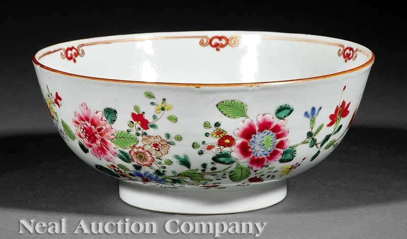 0003: A Chinese Export Famille Rose Porcelain Bowl