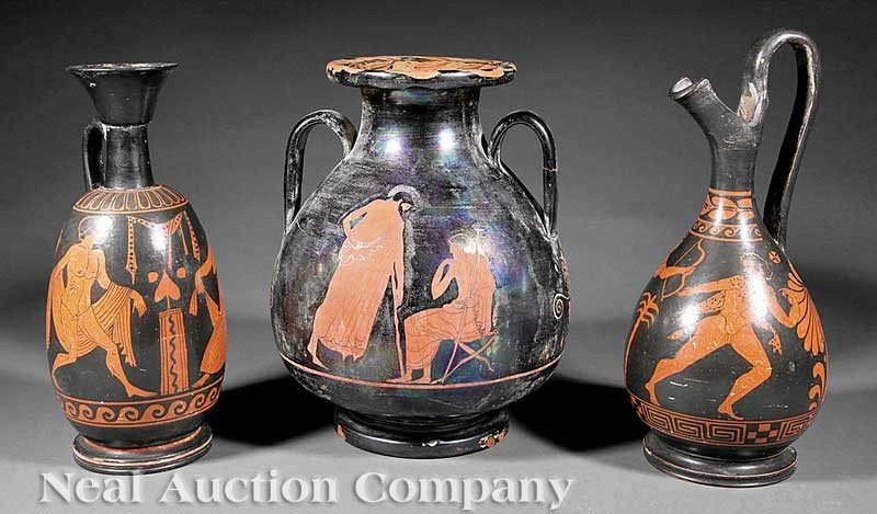 0006: A Group of Three Grand Tour Ceramic Vessels in th