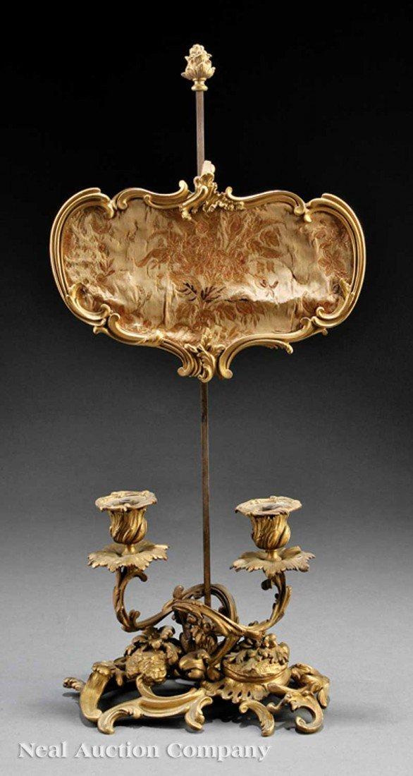 0012: ALouis Philippe Gilt Bronze Two-Light Bouil