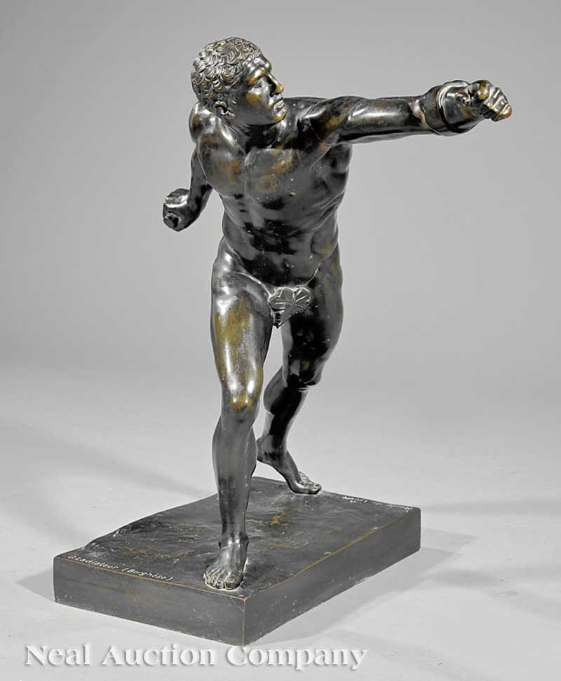 """0014: A French Bronze of the """"Borghese Gladiator"""""""