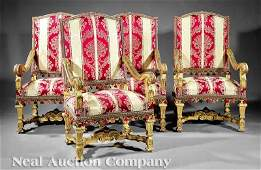 0321 Carved and Giltwood Fauteuils  la Reine