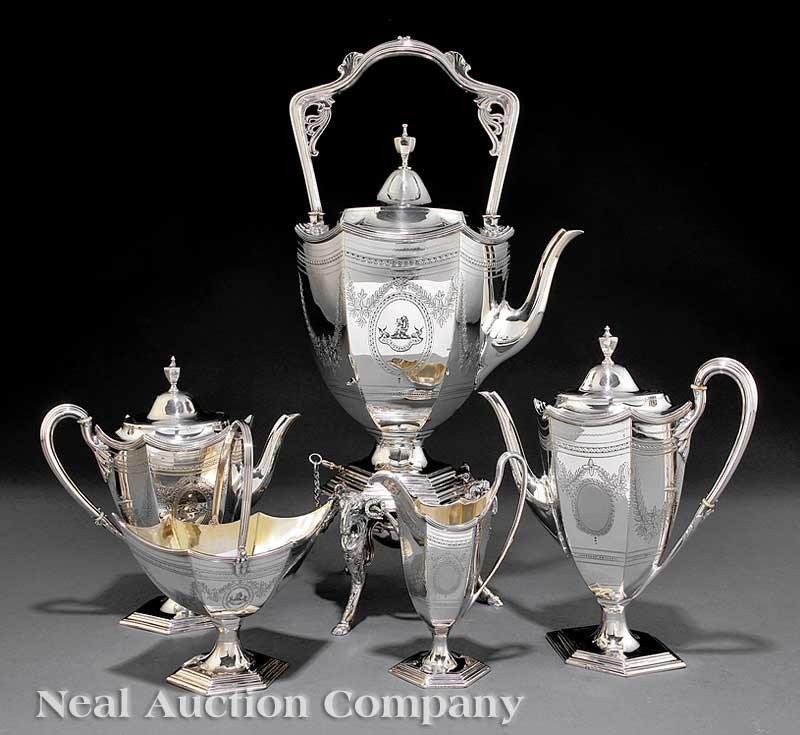 0528: Victorian Silverplate Tea and Coffee Service