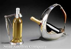 1021 English Silverplate Wine Bottle Holder