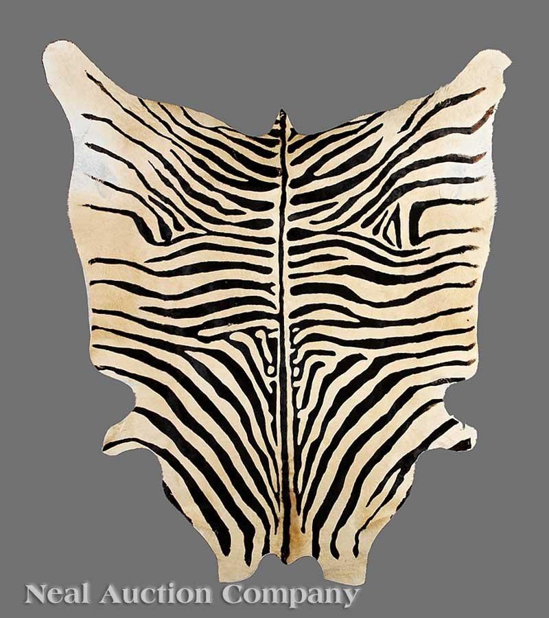 1060: Faux Zebra Skin Rug
