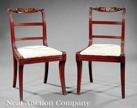 0001: Bronze-Mounted Carved Mahogany Side Chairs