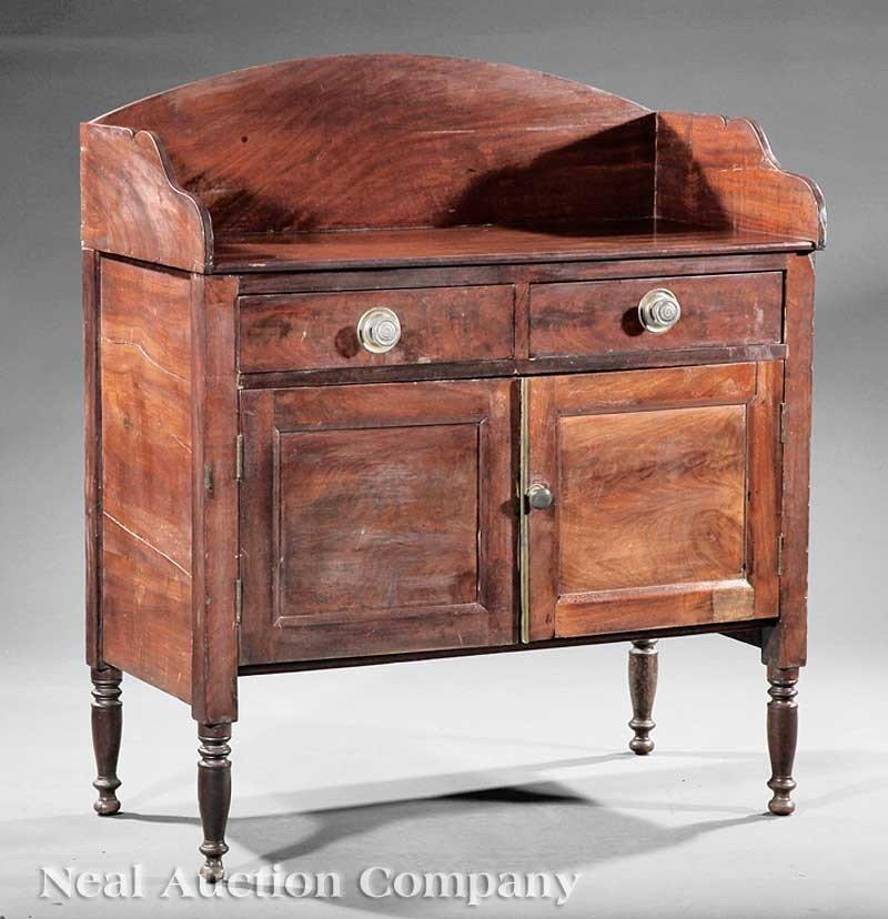 0002: American Federal Carved Mahogany Washstand