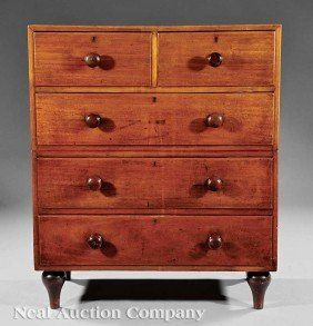 0004: William IV Mahogany Gentleman's Campaign Chest