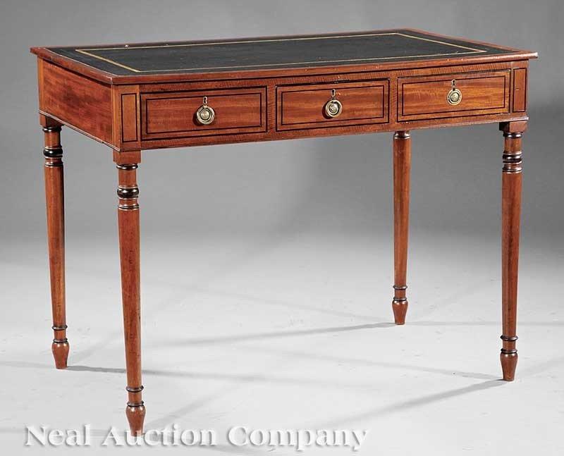 0005: Mahogany and Ebony Inlaid Writing Table