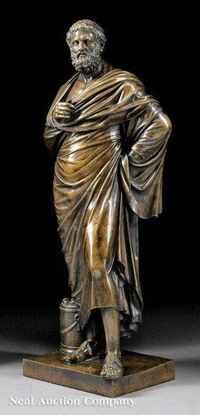 """Italian Bronze Of """"Aristides (or Aeschines)"""""""