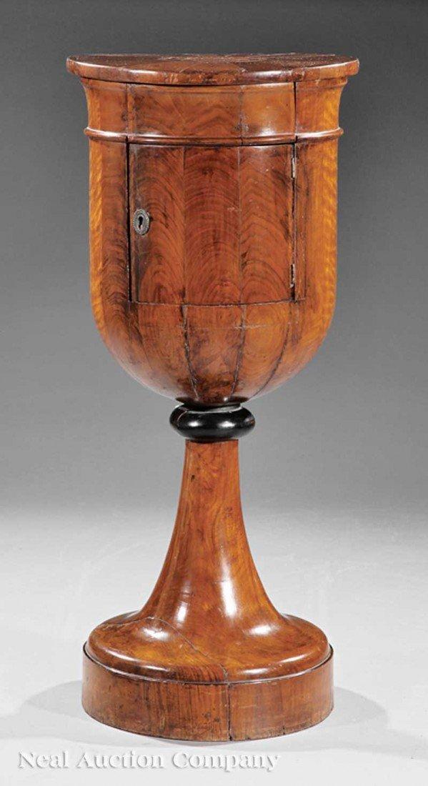 0039: Biedermeier Inlaid Mahogany Urn-Form Commode