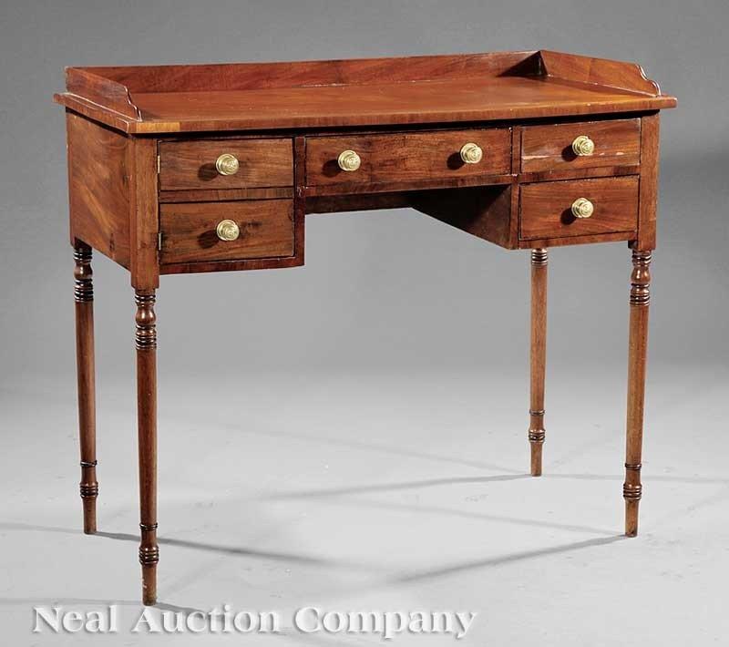 0041: Regency Carved Mahogany Writing Table