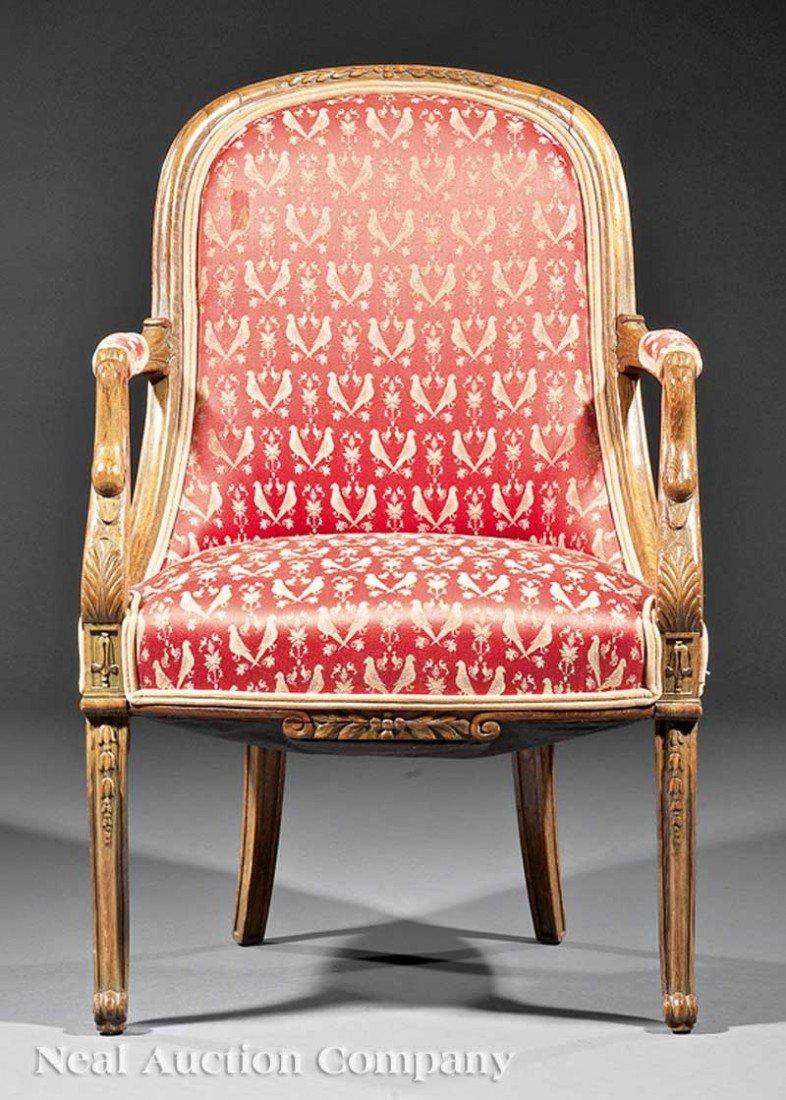 0044: Italian Carved Fruitwood Gondola Chair