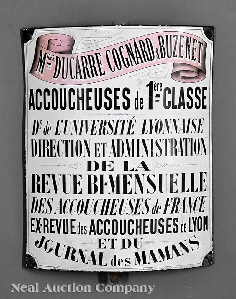 0045: French Enameled Mercantile Sign