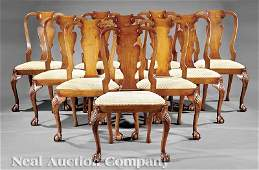 0441: Mahogany Dining Chairs, possib. Schmieg & Kotzian