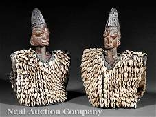 0596 Two African Carved Wood Ibeji Figures