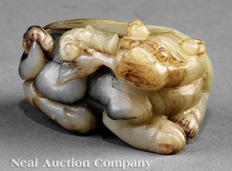0613: Chinese Celadon, Russet Jade Buddhist Lion