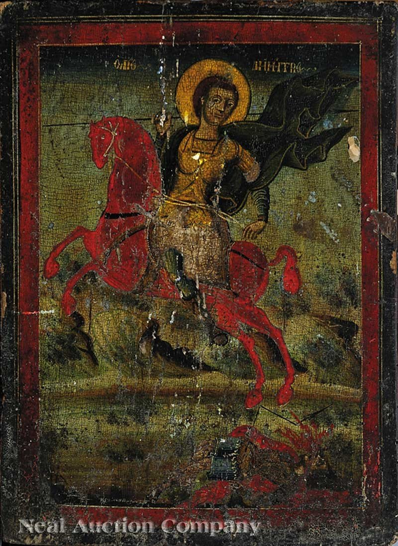 0680: Russian Icon of a Warrior Saint