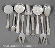 0731 Baltimore Sterling Silver Repousse Flatware