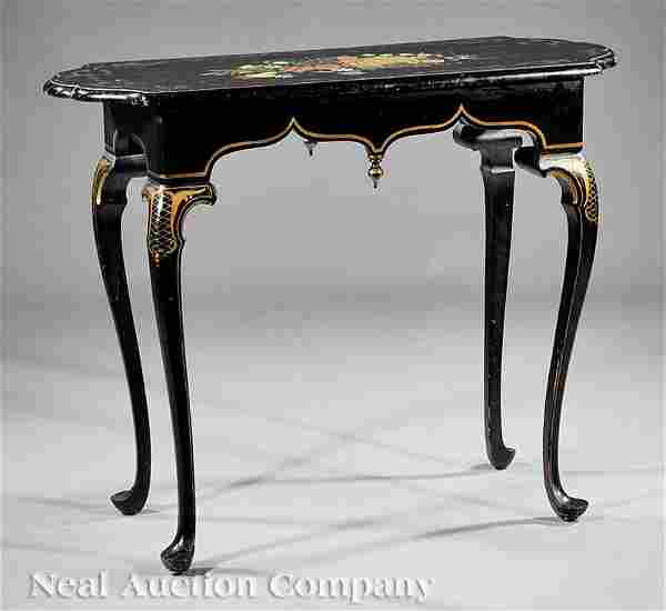 1105: Queen Anne-Style Paint-Decorated Side Table
