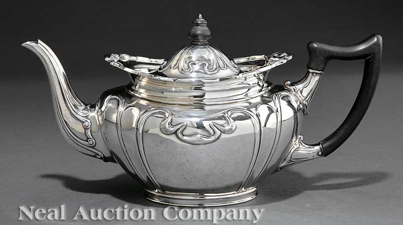 0008: Martin Hall & Co. Sterling Silver Teapot