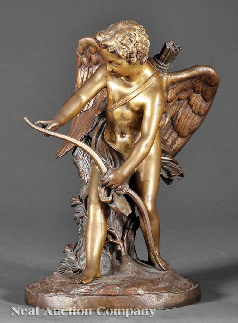 0014: Bronze Figure of Cupid Tying His Bow