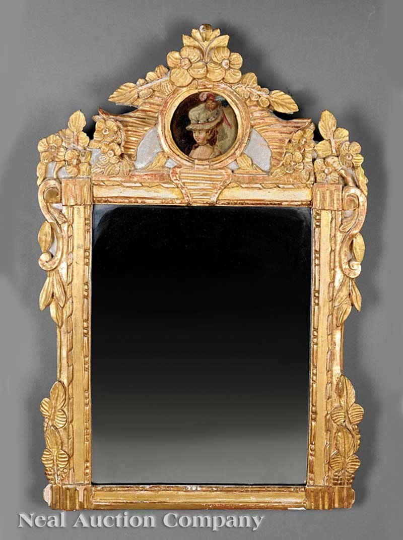 0016: Louis XVI Carved Giltwood Mirror
