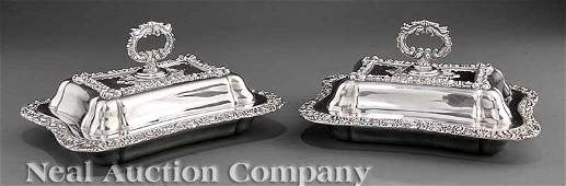 0132 Joseph Rodgers and Sons Silverplate Entree Dishes
