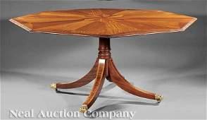 0289: Inlaid Mahogany and Satinwood Dining Table