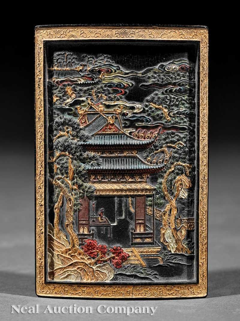 0697: Chinese Polychrome Decorated Inkcake